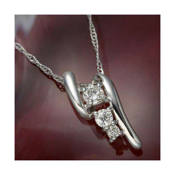 K18WG(ホワイトゴールド) ダイヤモンド デザイン ネックレス ペンダント