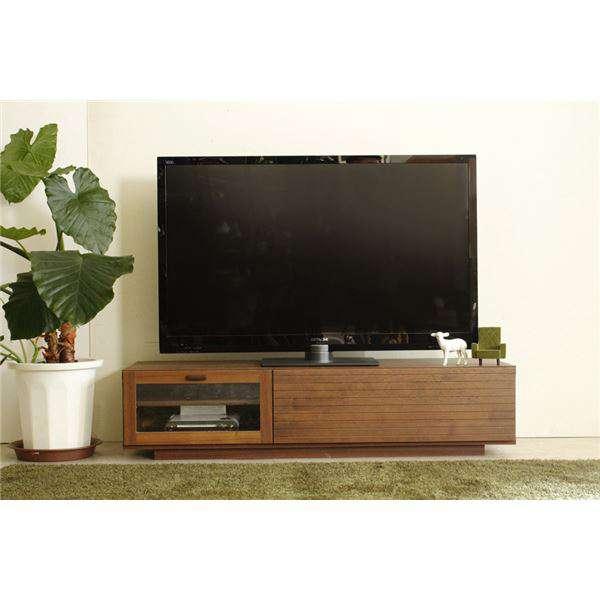 ローボード テレビ台 テレビボード 木製 幅130cm 37型 ~58型 対応 引き出し収納 フラップ扉付き 日本製 ブラウン 新生活 引越し 家具 メーカー直送品 ds-1629016