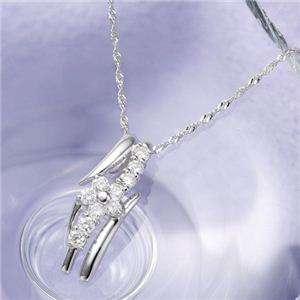 18金ホワイトゴールド(K18WG) ダイヤモンド ペンダント ネックレス