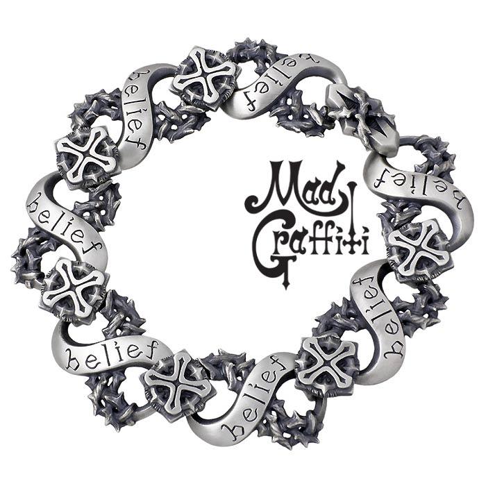 Mad Graffiti【マッドグラフィティ】 シルバー ブレスレット アクセサリー ブラインドビリーフ ロングタイプ MG-B-0001-L