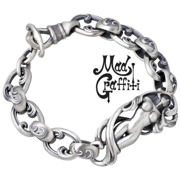 Mad Graffiti【マッドグラフィティ】 シルバー ブレスレット アクセサリー プリヴィリッジ M ロングタイプ MG-B-0008-L