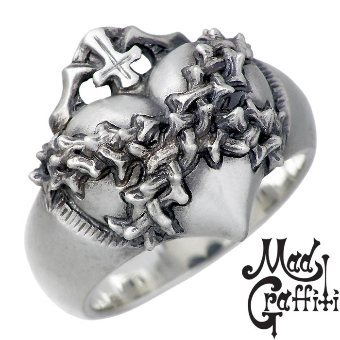 Mad Graffiti【マッドグラフィティ】 シルバー リング 指輪 アクセサリー モノポリー M 7号~30号 MG-R-0004