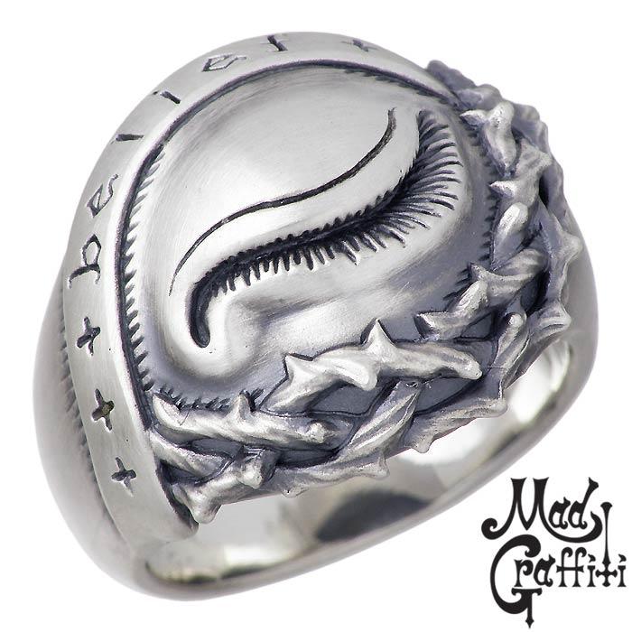 Mad Graffiti【マッドグラフィティ】 シルバー リング 指輪 アクセサリー ブラインドビリーフ M 13号~30号 MG-R-0010