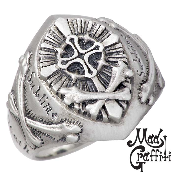 Mad Graffiti【マッドグラフィティ】 シルバー リング 指輪 アクセサリー モーティデム S 9号~30号 MG-R-0012