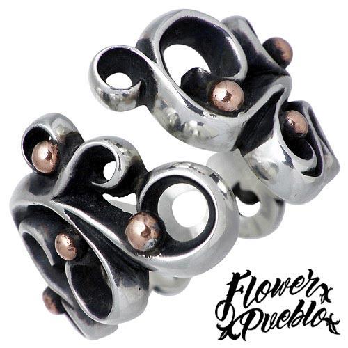 Flower Pueblo【フラワープエブロ】 リーフ シルバー リング L 指輪 アクセサリー シルバー925 スターリングシルバー fp-01