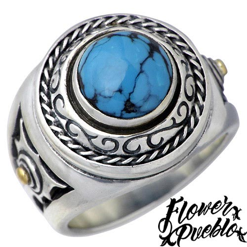 Flower Pueblo【フラワープエブロ】 世界の息吹 シルバー リング 指輪 シルバーアクセサリー シルバー925 fp-73TQ