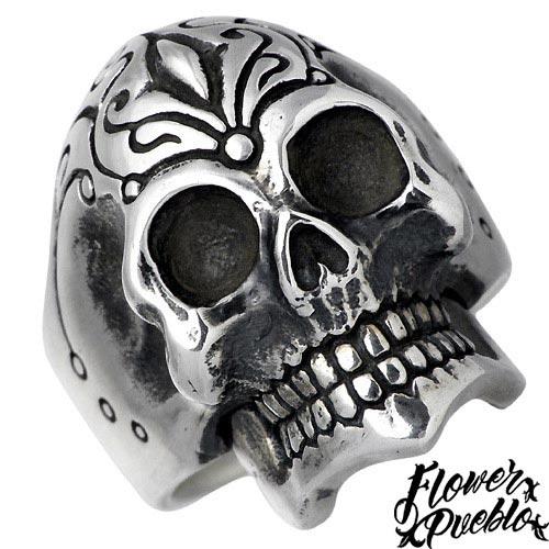 Flower Pueblo【フラワープエブロ】 Trip Skull シルバー リング 指輪 アクセサリー シルバー925 スターリングシルバー fp-88