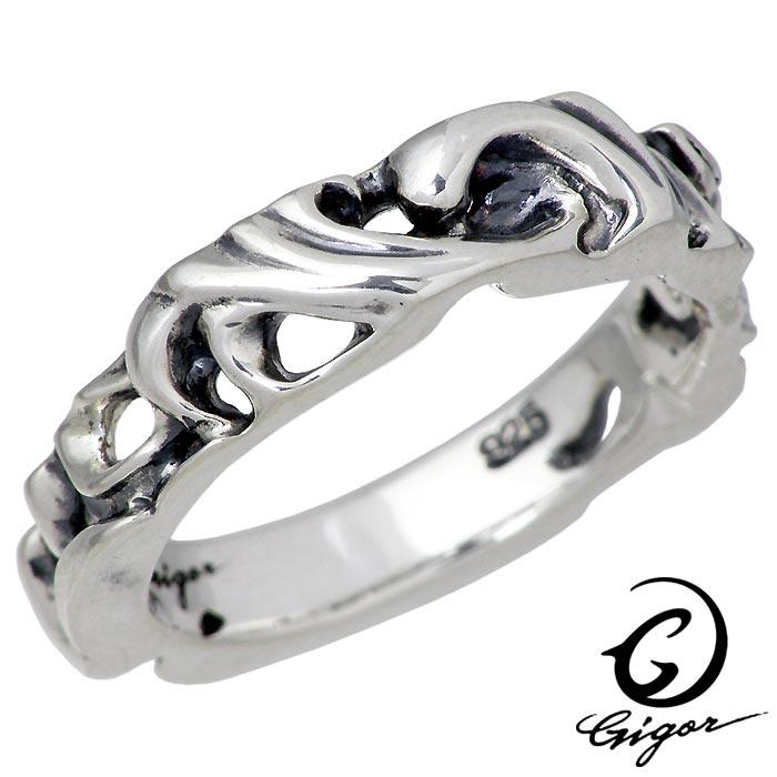 GIGOR【ジゴロウ】 シルバー リング フレッジ S 指輪 アクセサリー 7号~25号 NO-385