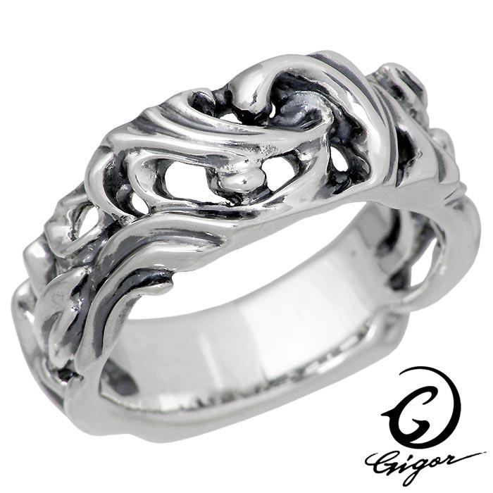 GIGOR【ジゴロウ】 シルバー リング フレッジ 指輪 アクセサリー 7号~25号 NO-386