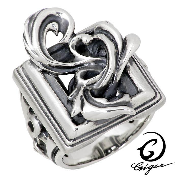 GIGOR【ジゴロウ】 シルバー リング フレアフレッジ 指輪 アクセサリー 7号~25号 NO-387