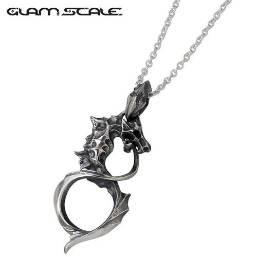 GLAM SCALE【グラムスケイル】 シルバー ネックレス アクセサリー チェーン付き ドラゴン シルバー925 スターリングシルバー GS-DT-006CL60