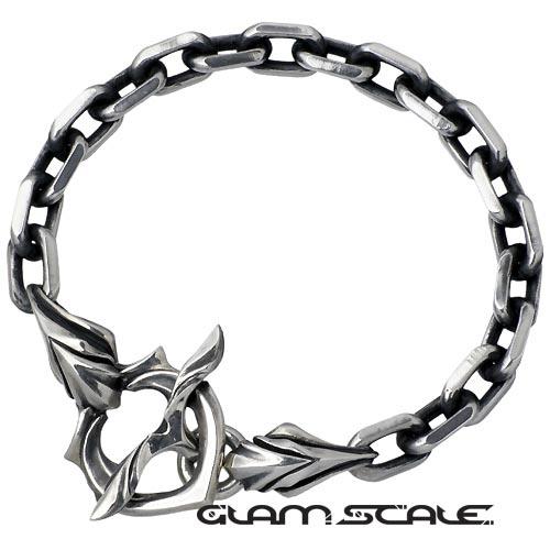 GLAM SCALE【グラムスケイル】 チェーン シルバー ブレスレット Tバー式 シルバーアクセサリー シルバー925 GS-EB-004