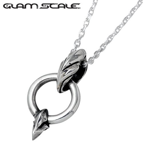 GLAM SCALE【グラムスケイル】 サークル シルバー ネックレス アクセサリー チェーン付き シルバー925 スターリングシルバー GS-EN-008
