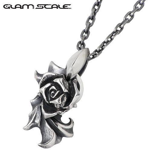 GLAM SCALE【グラムスケイル】 バラ シルバー ネックレス チェーン付き シルバーアクセサリー シルバー925 GS-EN-009