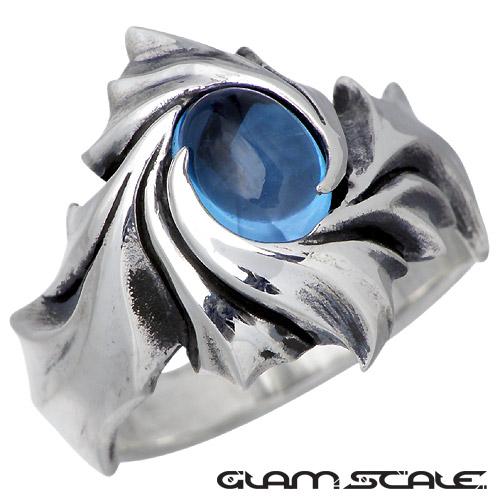 GLAM SCALE【グラムスケイル】 ストーン シルバー リング ブルートパーズ 指輪 7号~21号 シルバーアクセサリー シルバー925 GS-ER-006BT
