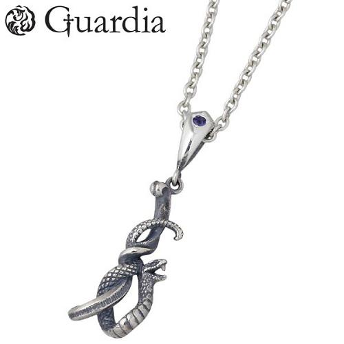 Guardia【ガルディア】 Medusiana メドゥシアナ シルバー ネックレス アクセサリー アイオライト 蛇 メンズ シルバー925 スターリングシルバー ATPN-026RIOLCL6