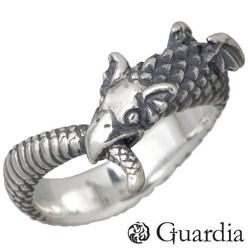 Guardia【ガルディア】 Baby Ouroboros 竜 シルバー リング 指輪 8号 シルバーアクセサリー シルバー925 ATR-003