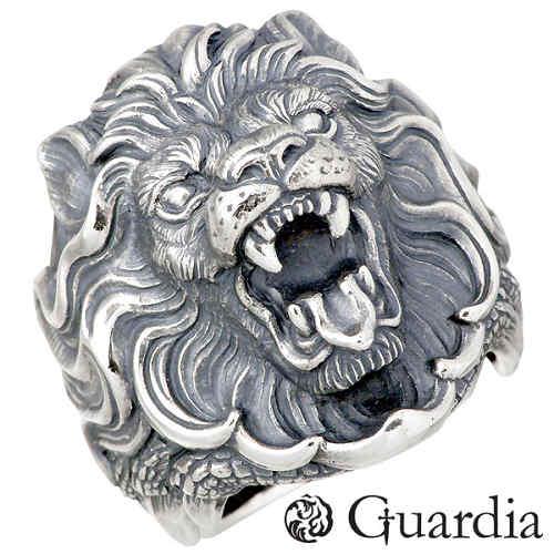 Guardia【ガルディア】 Nemean Lion ライオン シルバー リング 指輪 11~30号 シルバーアクセサリー シルバー925 ATR-010