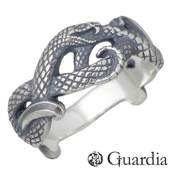 Guardia【ガルディア】 Medusiana ヘビ シルバー リング ピンキー 指輪 アクセサリー 1~17号 シルバー925 スターリングシルバー ATR-014