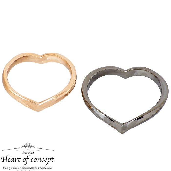ハートオブコンセプト HEART OF CONCEPT シルバー ペアリング 指輪 アクセサリー エターナルラブ ハート 6~16号 12~22号 ピンク ブラック HCR-284LPK-MBK