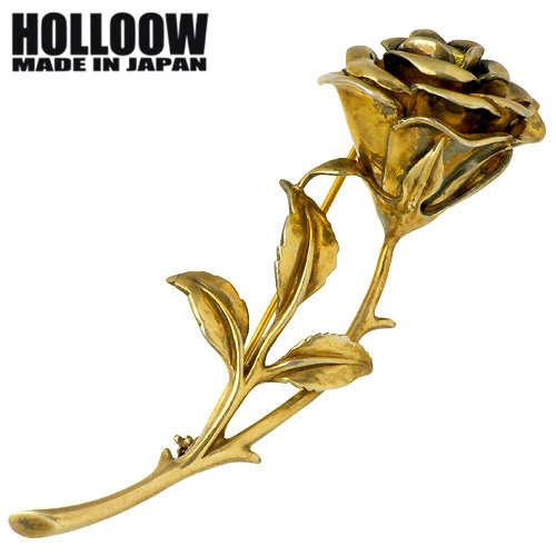 HOLLOOW【ホロウ】 ローズ シルバー ブローチ キュービック カラーコーティング バラ 薔薇 シルバー925 スターリングシルバー KHP-129