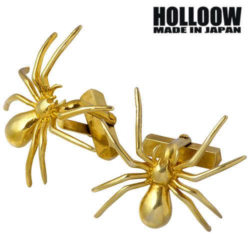 HOLLOOW【ホロウ】 スパイダー シルバーカフス ゴールドコーティング クモ 蜘蛛 シルバー925 スターリングシルバー KHP-133GD