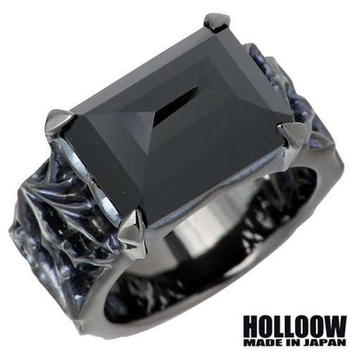 HOLLOOW【ホロウ】 ロイヤルソーニー シルバー リング ブラックコーティング オニキス 15~25号 指輪 シルバーアクセサリー シルバー925 KHR-100BK