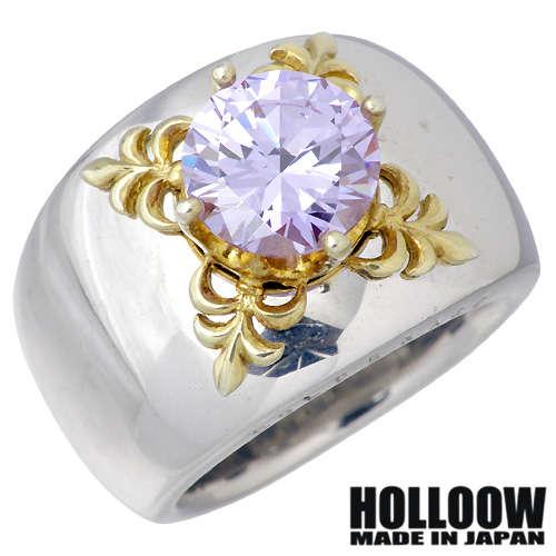 HOLLOOW【ホロウ】 エデン シルバー リング ゴールドコーティング キュービック 10~25号 指輪 アクセサリー シルバー925 スターリングシルバー KHR-32LD