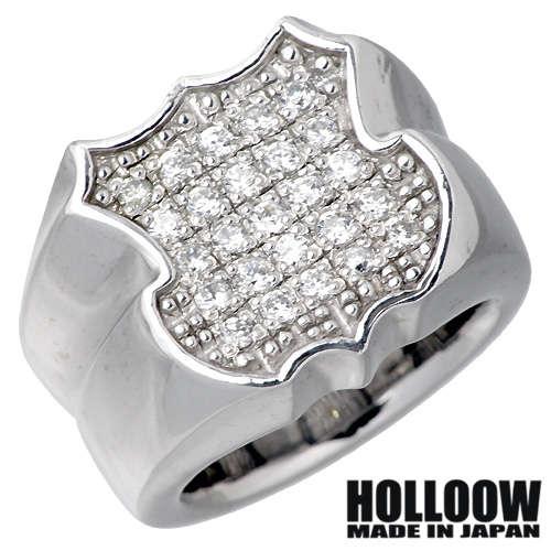 HOLLOOW【ホロウ】 エンブレムΩ シルバー リング キュービック 10~25号 指輪 シルバーアクセサリー シルバー925 KHR-33SV