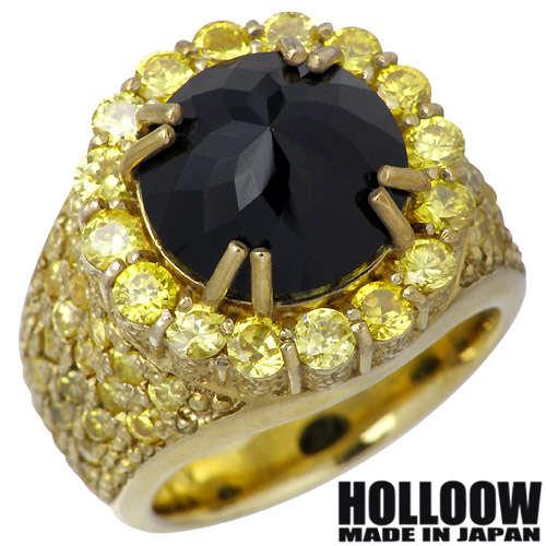 HOLLOOW【ホロウ】 レクイエム シルバー リング ゴールドコーティング キュービック 10~25号 指輪 アクセサリー シルバー925 スターリングシルバー KHR-49GD