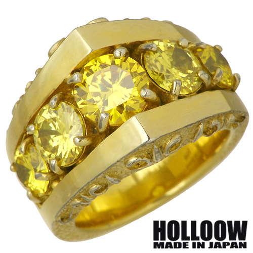 HOLLOOW【ホロウ】 セレナーデ シルバー リング カラーコーティング キュービック 10~25号 指輪 アクセサリー シルバー925 スターリングシルバー KHR-53
