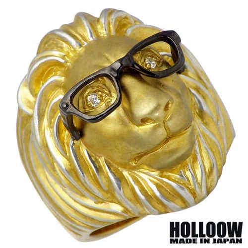 ホロウ HOLLOOW ケルビム ライオン シルバー リング カラーコーティング キュービック 獅子 10~25号 指輪 アクセサリー シルバー925 スターリングシルバー KHR-64