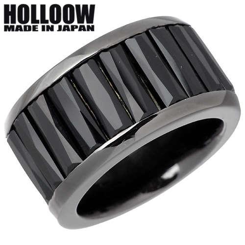 HOLLOOW【ホロウ】 レクテングル シルバー リング ブラックコーティング オニキス 10~25号 指輪 アクセサリー シルバー925 スターリングシルバー KHR-66BK