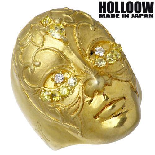 HOLLOOW【ホロウ】 ガブリエル シルバー リング ゴールドコーティング キュービック 10~25号 指輪 シルバーアクセサリー シルバー925 KHR-67GD