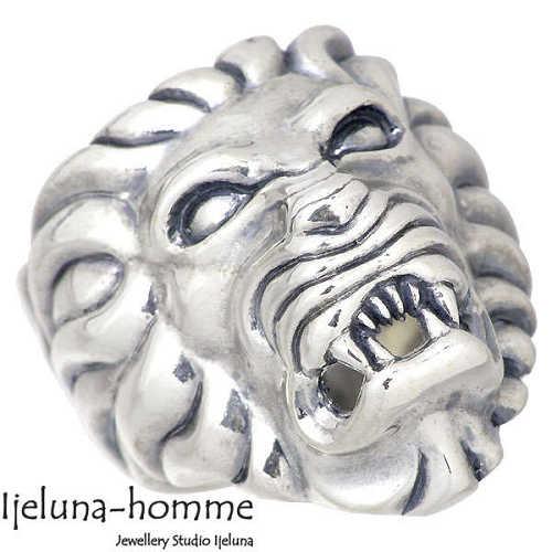 Ijeluna-homme【アイジェルナ オム】 ライオンver.1 シルバー リング 指輪 アクセサリー 15~22号 シルバー925 スターリングシルバー AT-044R