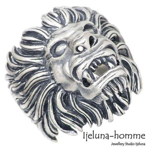 Ijeluna-homme【アイジェルナ オム】 ライオンver.2 シルバー リング 指輪 15~22号 シルバーアクセサリー シルバー925 AT-045R