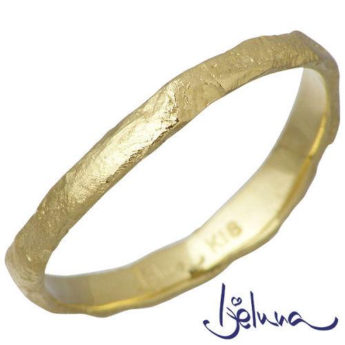 Ijeluna【アイジェルナ】 K18 イエローゴールドリング メンズ 指輪 アクセサリー 11~19号 HJ-009RGY