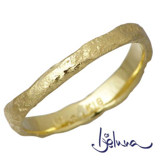 Ijeluna【アイジェルナ】 K18 イエローゴールドリング レディース 指輪 アクセサリー 7~13号 HJ-010RGY