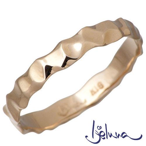 Ijeluna【アイジェルナ】 K18 ピンクゴールドリング メンズ 指輪 11~19号 HJ-011RGP