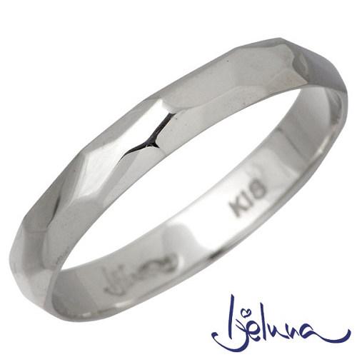 Ijeluna【アイジェルナ】 K18ホワイトゴールドリング メンズ 指輪 11~19号 HJ-013RGW