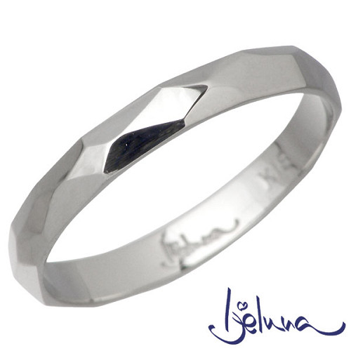 Ijeluna【アイジェルナ】 K18ホワイトゴールドリング レディース 指輪 アクセサリー 7~13号 HJ-014RGW