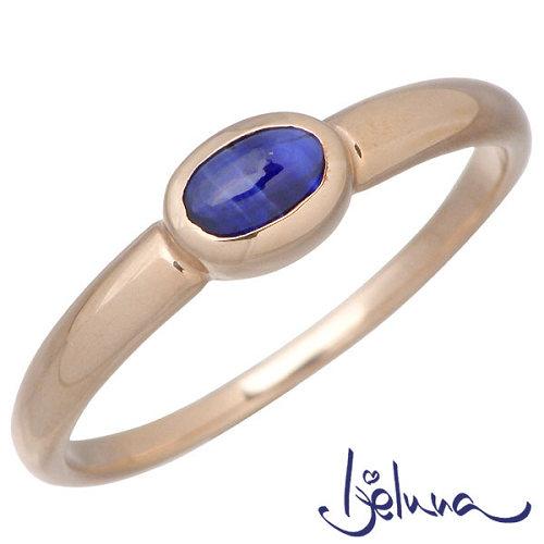 Ijeluna【アイジェルナ】 K18 ピンクゴールド & ブルーサファイヤリング アクセサリー 指輪 アクセサリー 7~13号 HJ-015RGP