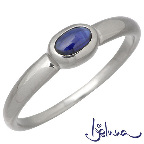 Ijeluna【アイジェルナ】 K18ホワイトゴールド & ブルーサファイヤリング アクセサリー 指輪 アクセサリー 7~13号 HJ-015RGW