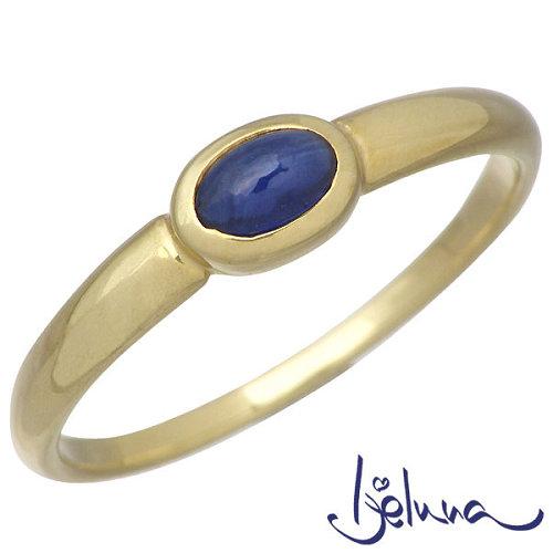 アイジェルナ Ijeluna K18 イエローゴールド & ブルーサファイヤリング アクセサリー 指輪 アクセサリー 7~13号 HJ-015RGY