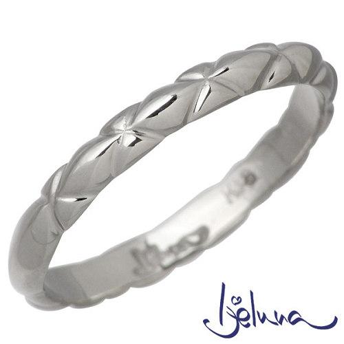 アイジェルナ Ijeluna K18ホワイトゴールドリング メンズ 指輪 アクセサリー 11~19号 HJ-020RGW