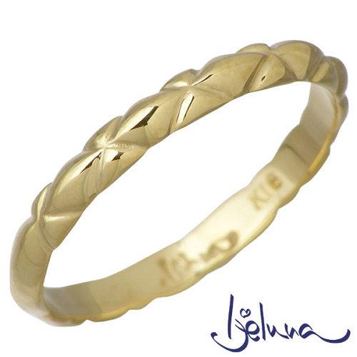 Ijeluna【アイジェルナ】 K18 イエローゴールドリング メンズ 指輪 アクセサリー 11~19号 HJ-020RGY