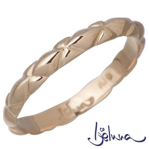 Ijeluna【アイジェルナ】 K18 ピンクゴールドリング レディース 指輪 アクセサリー 7~13号 HJ-021RGP