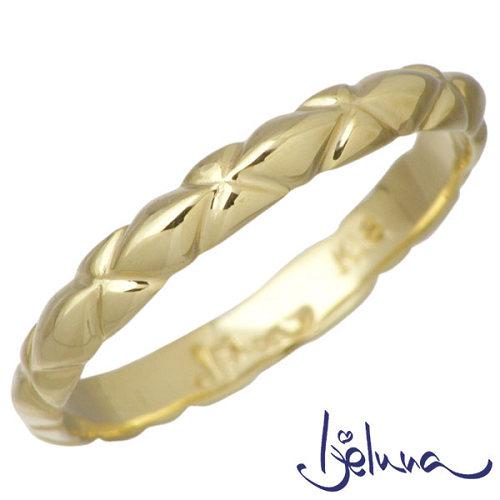 Ijeluna【アイジェルナ】 K18 イエローゴールドリング レディース 指輪 アクセサリー 7~13号 HJ-021RGY