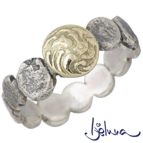 Ijeluna【アイジェルナ】 シルバー & ゴールドアンティークコインリング 指輪 アクセサリー 7~13号 シルバー925 スターリングシルバー IJ-010RSG1