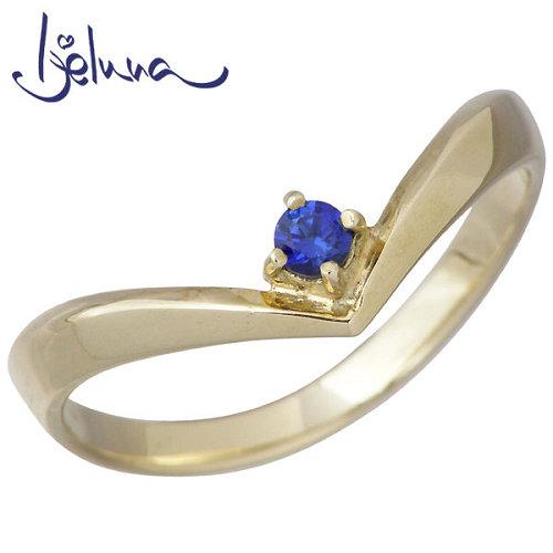 Ijeluna【アイジェルナ】 K10 イエローゴールド 2.5mmサファイヤリング アクセサリー 指輪 アクセサリー 7~13号 IJ-018RG-SP